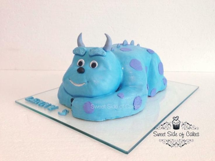 Chibi Sully from Monster Inc. - http://cakesdecor.com/cakes