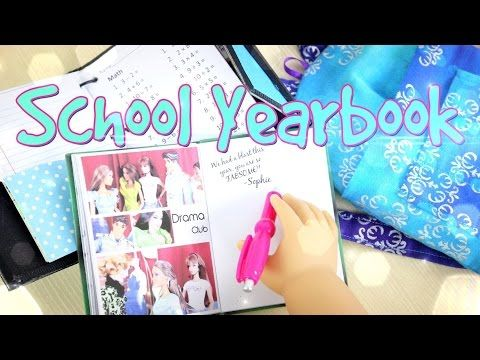 How to Make a Doll School Yearbook - Doll Crafts - YouTube