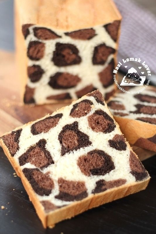 And thus, leopard bread is born.