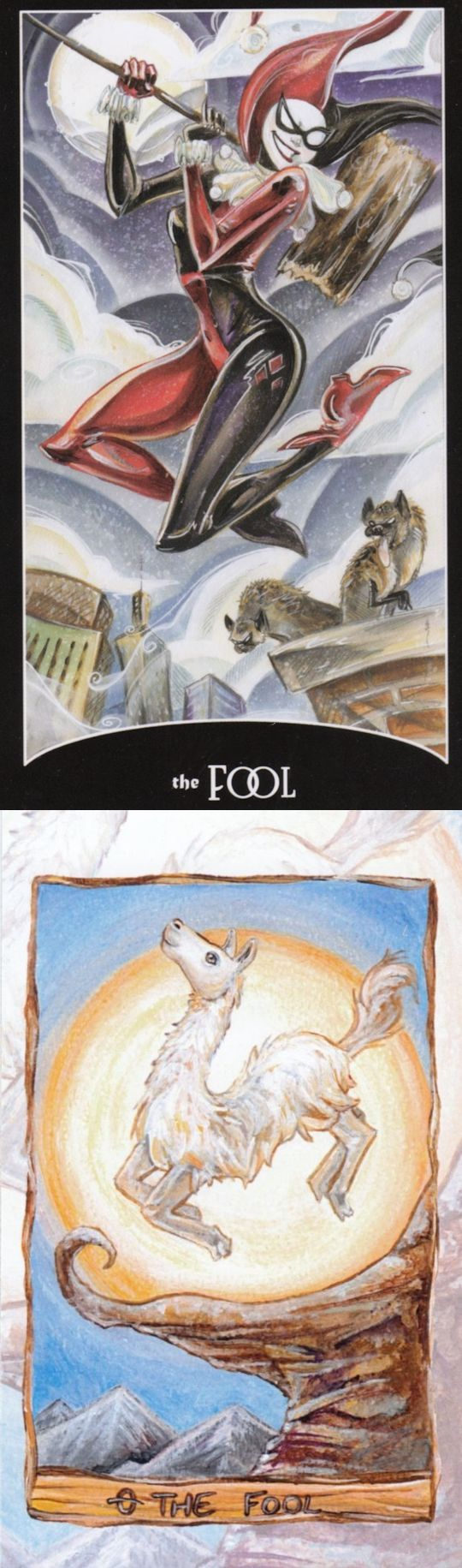 THE FOOL: innocence and unaware of consequences (reverse). Justice League Tarot deck and Animisim Tarot deck: tarot angeles, physic reading free online now and tarot learning. Best 2017 magic mirror and tarot bag sewing pattern. #spell #tarot #spellwork #magick #pagan #paganism