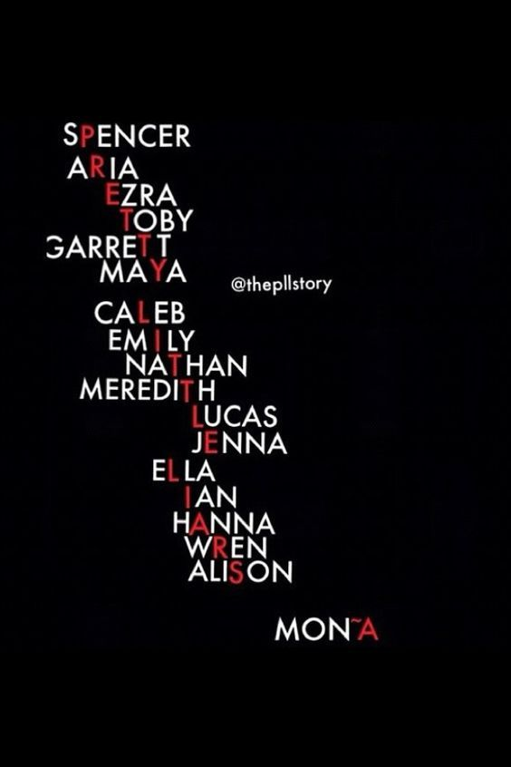 PLL!!!!!!!!!!! Well since apparently Mona isn't A anymore