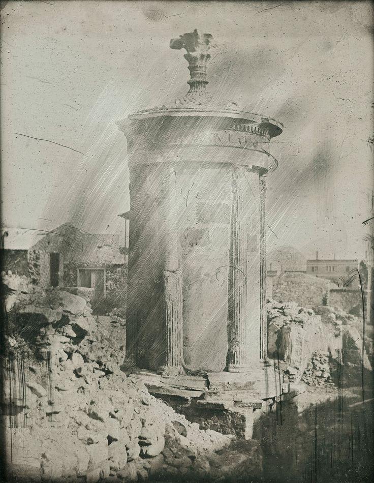 """Ο""""Πύργος των Ανέμων"""" στην Πλάκα, 1842. Josepf-Filibert Girault de Prangey Πηγή: www.lifo.gr"""