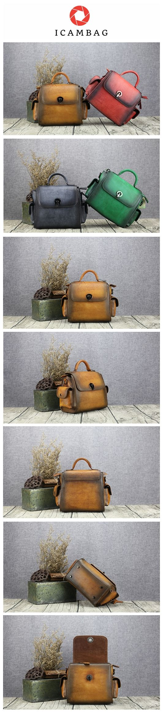 Yellow  Real leather baotou layer of cow leather retro personality lock hand bill of lading shoulder bag6066