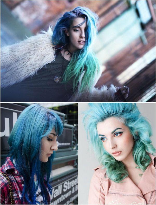 bold hair look: blue ombre hair!!