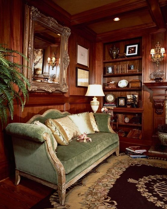 Wood Paneled Room Design: 188 Best Images About INTERIORS: STUDY + LIBRARY On