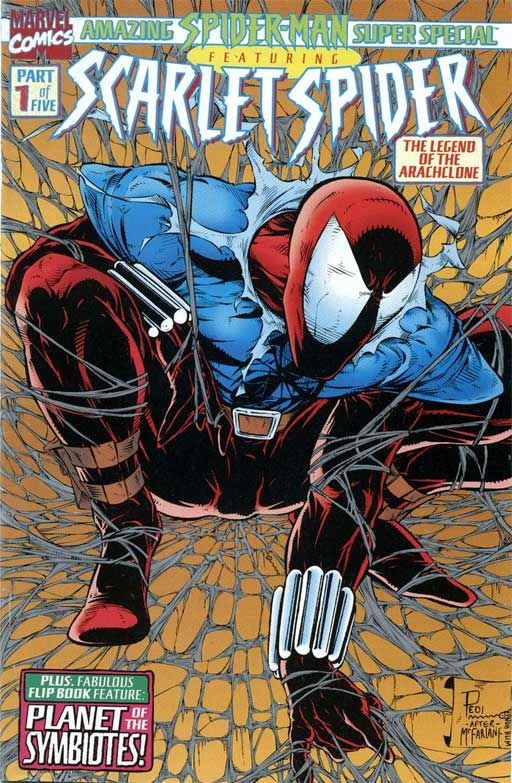 SCARLET SPIDER  Homage to SPIDER-MAN #1 - Todd McFarlane ✮✮Feel free to share on Pinterest ♥ღ www.GOODPLACETOBUYSHOES.COM