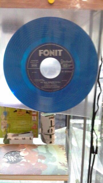 Nel blu dipinto di blu FONIT 45 giri vinyl azzurro