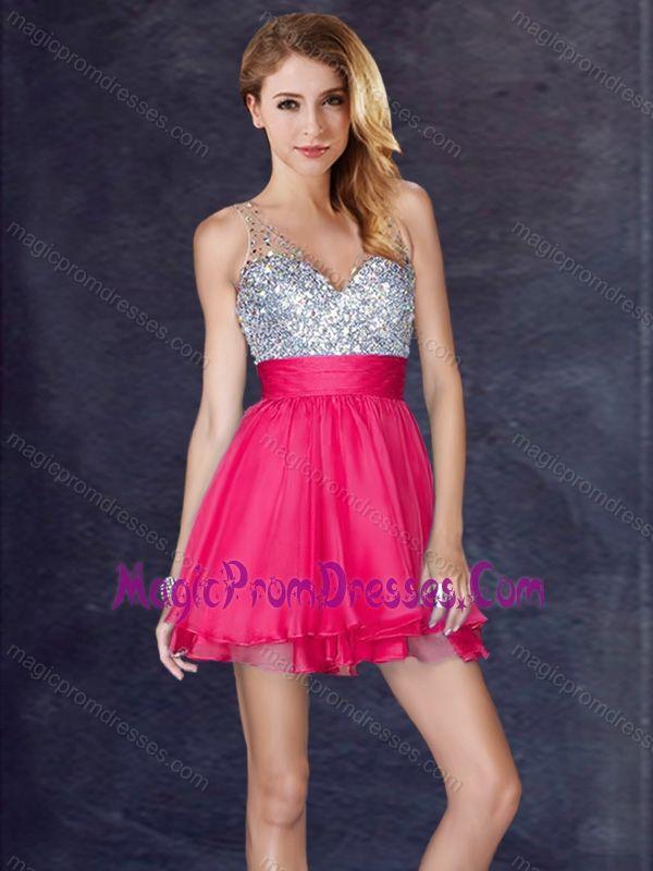 Hot Pink Homecoming Dresses 2018 11