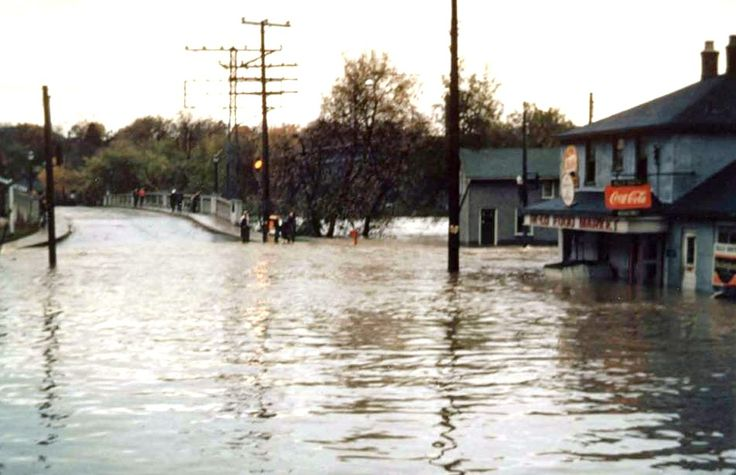 Water And Concession Streets In Galt Cambridge During The