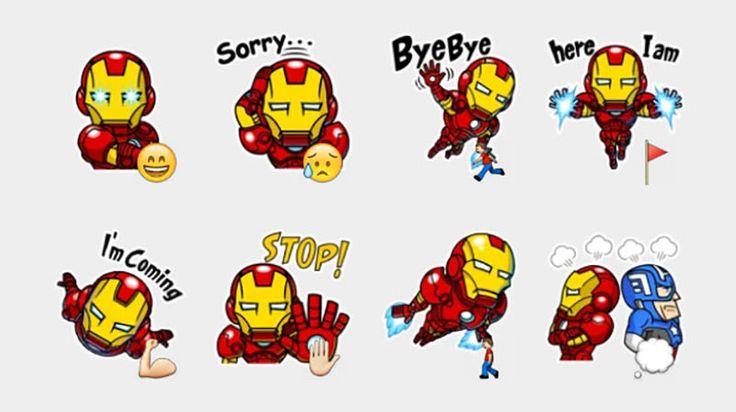 Iron Man Stickers Set | Telegram Stickers