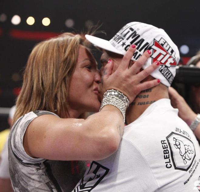world champion Cristiane Cyborg with husband, fellow MMA fighter, Cyborg Santos