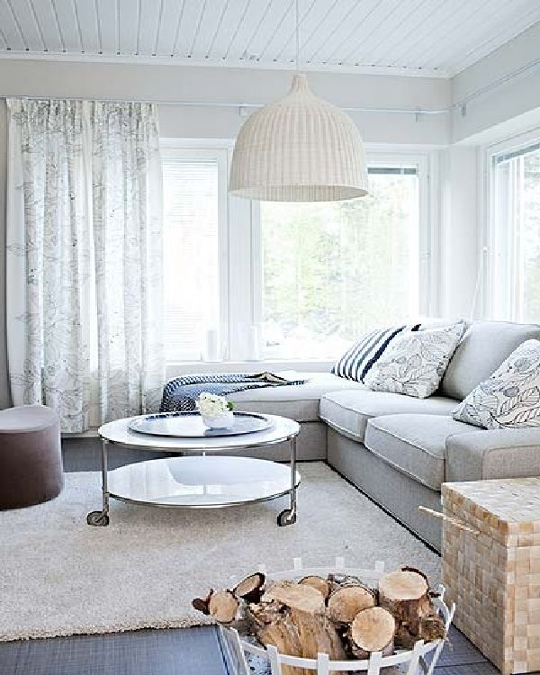 Living Room Decor Ikea: Gorgeous Living Room, The Overhanging Pendant Light Is