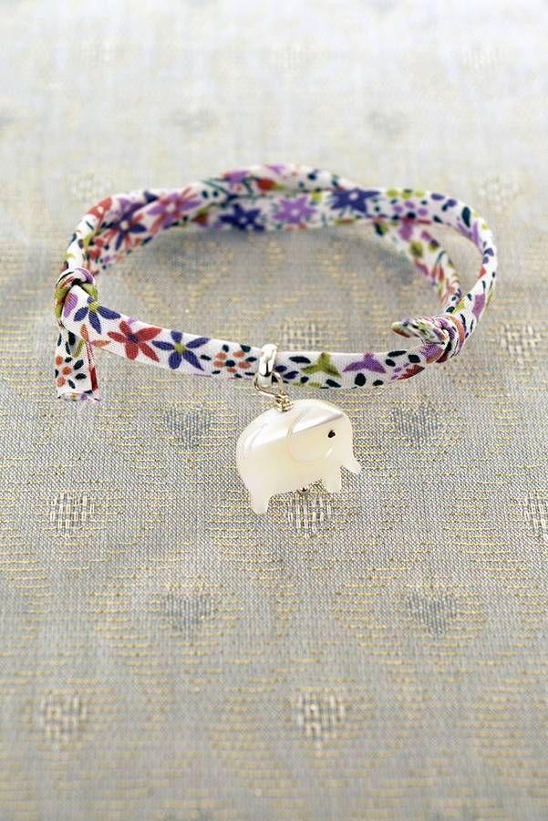 elephant liberty print bracelet by daniela sigurd jewellery | notonthehighstreet.com