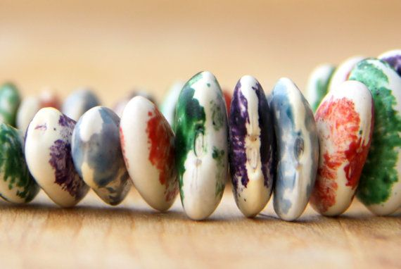 Gorgeous Upcycled Bean Bracelet