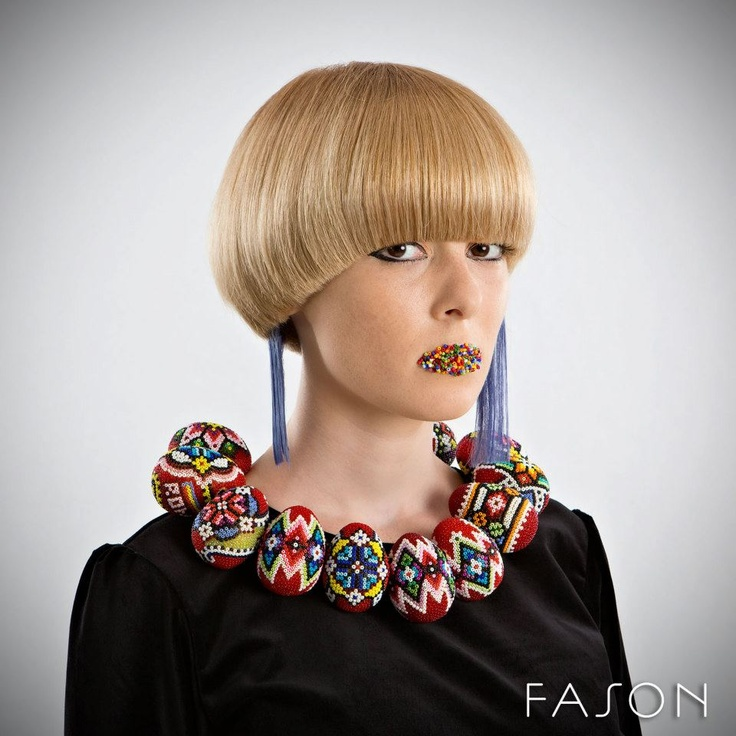 Hair style with a Romanian theme, Moldova,made by Salon Fason