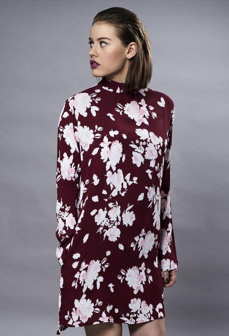 MISSMAYA Sienna Dress Burgundy Flower
