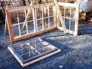 How to build a mini greenhouse using reclaimed windows.