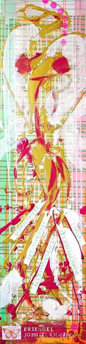 Seelenbild »Erzengel Jophiel & Erzengel Haniel: Ganzheit, Weiblichkeit. Innerer Frieden. Lebendigkeit« (120 x 30 cm)   © Stefanie Marquetant