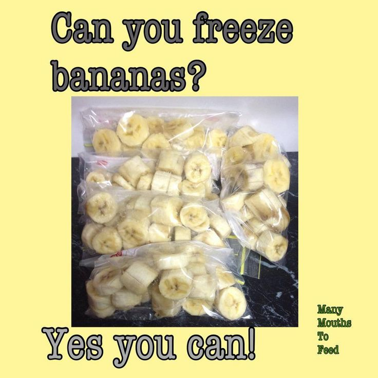 Chop and freeze excess bananas
