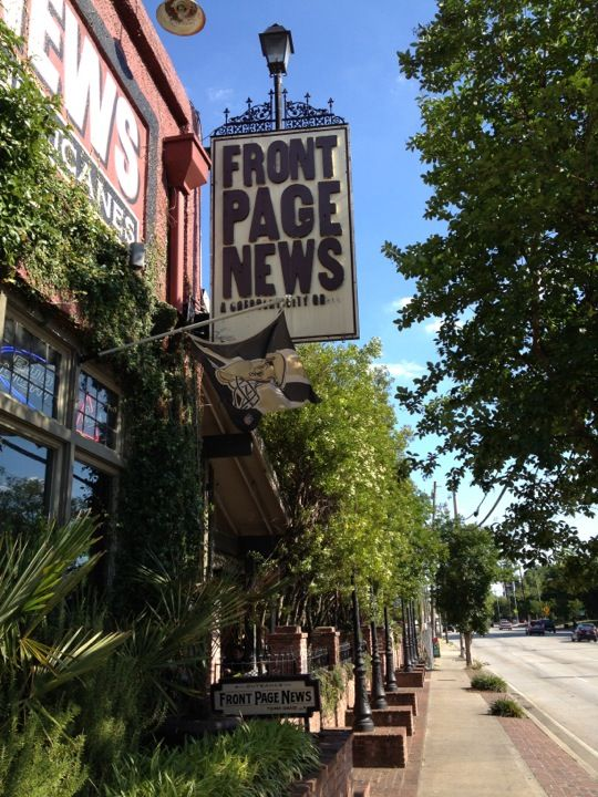 Front Page News in Atlanta, GA. Great place for brunch!