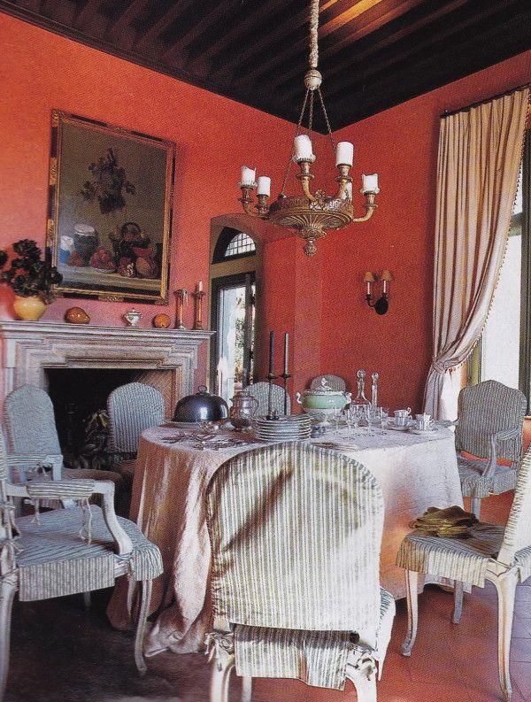 Dining Room California Tuscan Mark Hampton