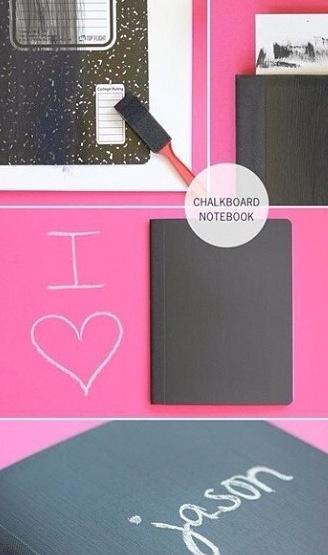 Chalkboard Notebook DIY