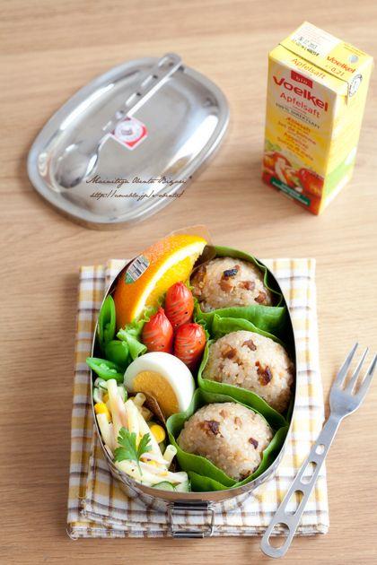 焼き豚おにぎりのお弁当♪ あ~るママオフィシャルブログ「毎日がお弁当日和♪」Powered by Ameba