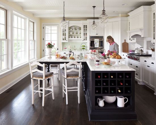 Love the island table benjamin moore paint colors pale L shaped kitchen designs with island