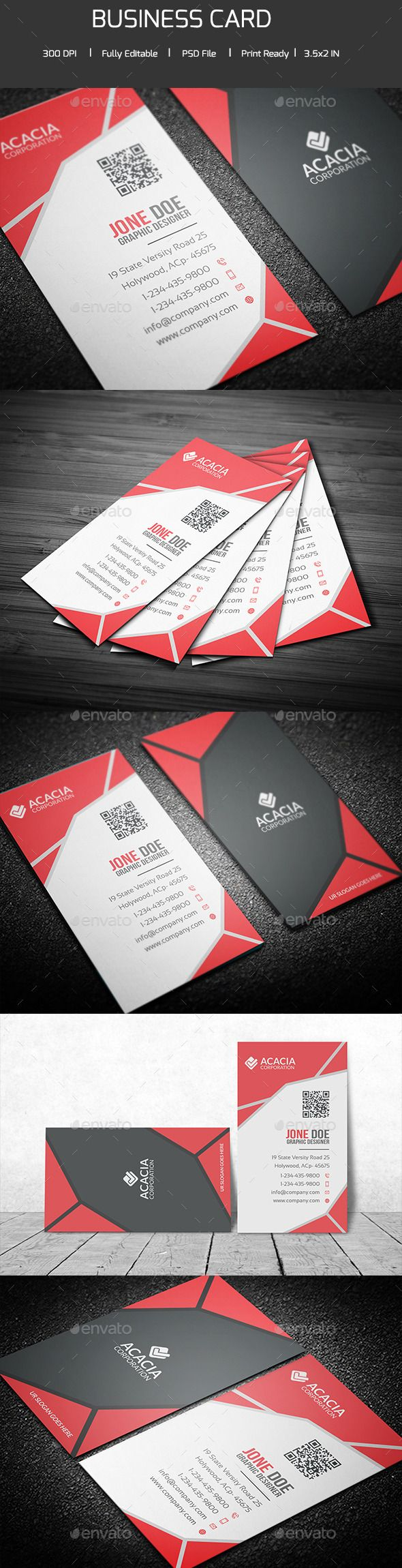 17 best business card images on pinterest business card design creative vertical business card reheart Images