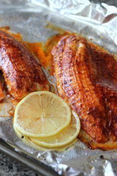Smoked Paprika Butter Fish {flounder, tilapia or cod} recipe