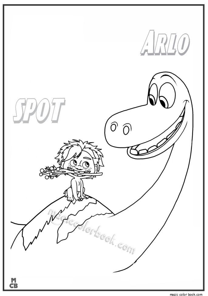 disney dinosaur coloring pages | Good Dinosaur Coloring Pages free printable spot arlo 30 ...