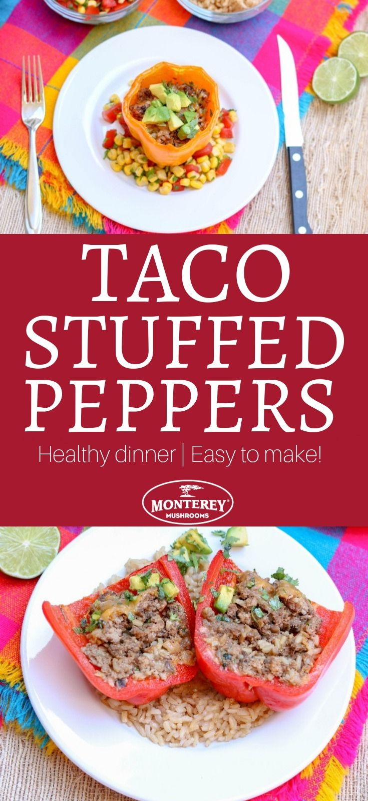 Let S Blend Taco Stuffed Beef And Mushroom Peppers Stuffed Peppers Taco Stuffed Peppers Stuffed Peppers Healthy