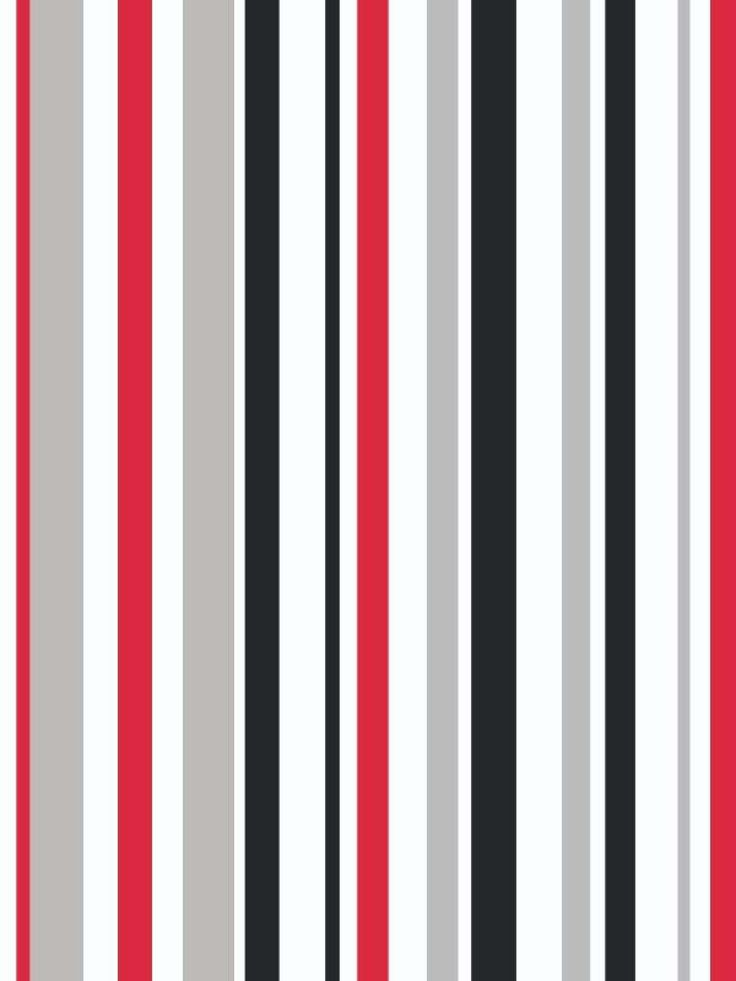Super stripe red grey black and white wallpaper