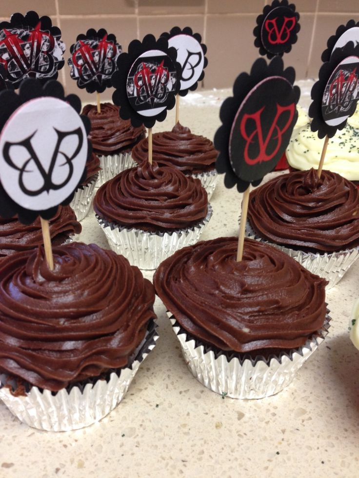 Black Veil Brides cupcake toppers