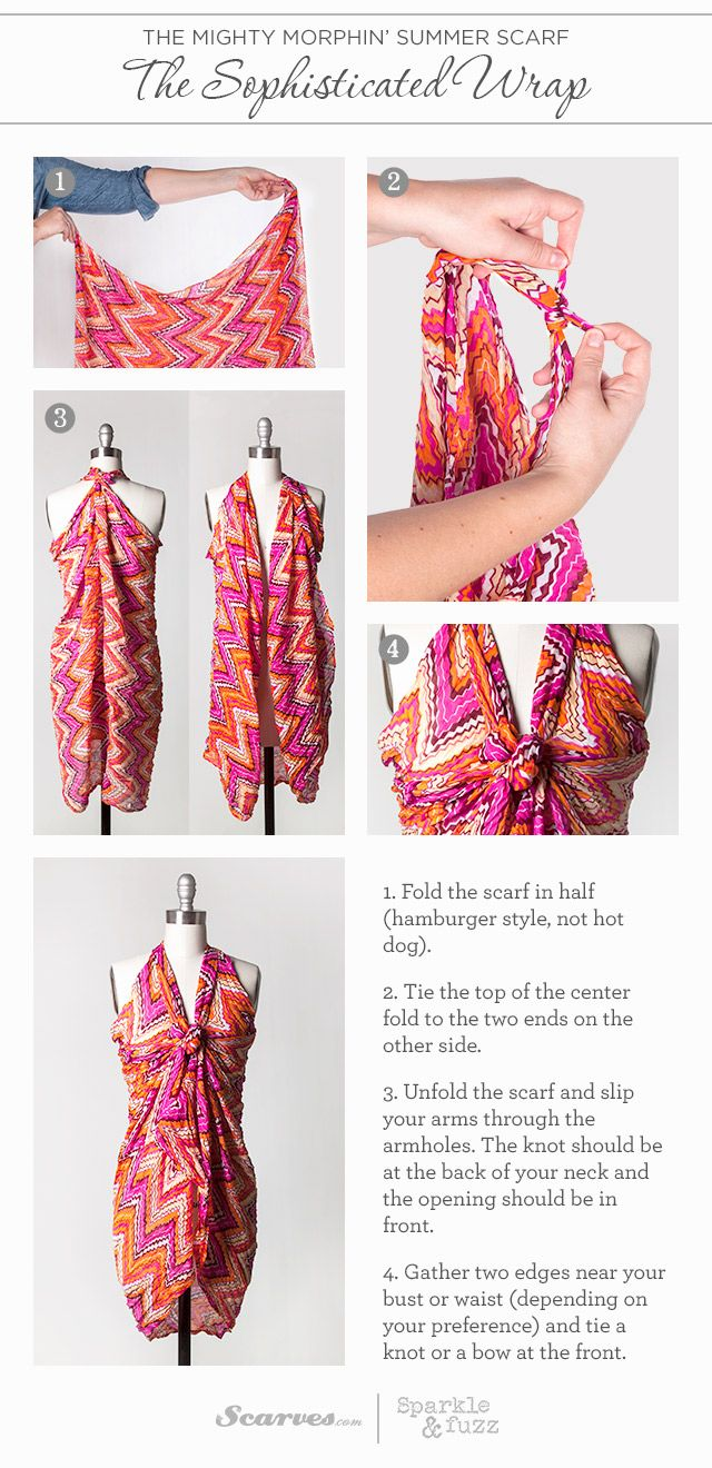The Mighty Morphin' Summer Scarf: The Sophisticated Wrap