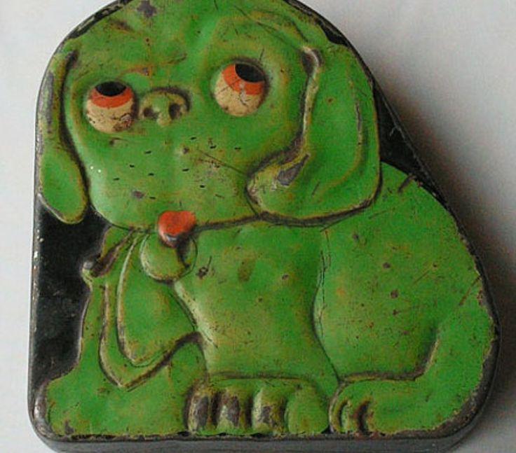 Vintage dog tin