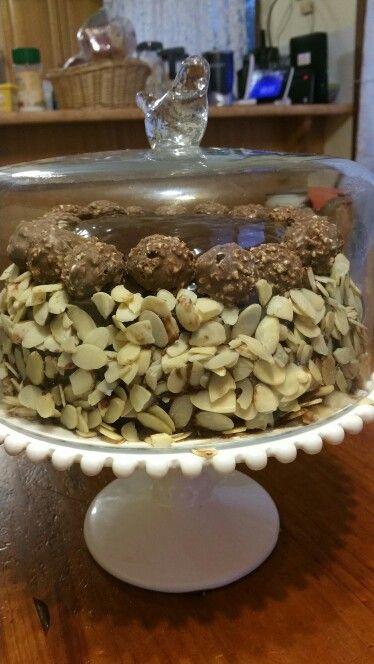 Home made Ferrero Rocher cake