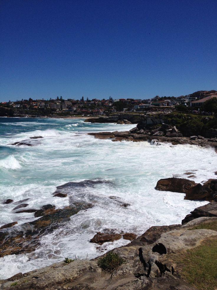 Looking back to Tamarama Beach NSW.