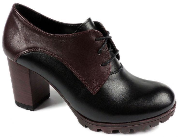 Stylowe półbuty w niezwykle modnym czarno – bordowym odcieniu to propozycja, która nie powinna umknąć twojej uwadze!  http://www.intershoe.com.pl/polbuty-4370062d