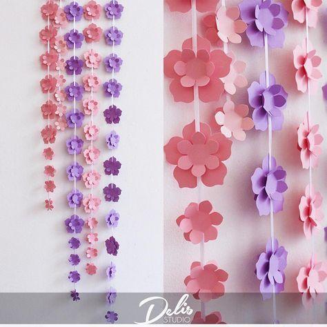 """Доброе утро! А у нас отличные новости! Теперь вы можете заказать отдельные элементы бумажного декора для своих мероприятий, а так же для декора дома или других помещений Цветочные гирлянды, называемые нами """"цветочными висюльками"""" доступны для заказа в любом цвете!  До 10 м - 450 тг за метр (матовая бумага, перламутровая +50 тг)  Свыше 10 м - 350 тг за метр. (Матовая бумага, перламутровая +50тг) Для заказа пишите в дайрект или звоните по тел указанных в профиле #presswall #presswall..."""