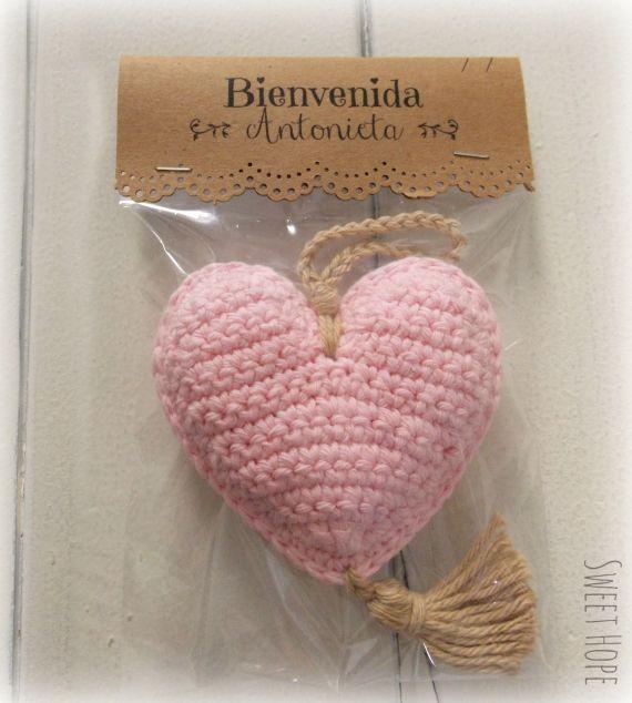 SOUVENIRS CORAZON RELLENO CON - Crochet - Tejidos de Punto - 612391