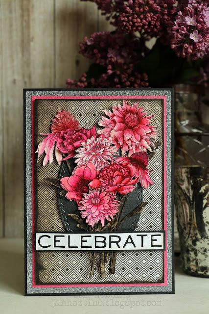 Celebrate with Floral DIY Card - Jan Hobbins