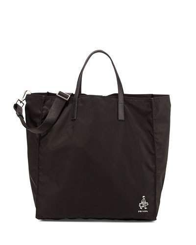 Prada Porter Men's Nylon Tote Bag, Black (Nero)