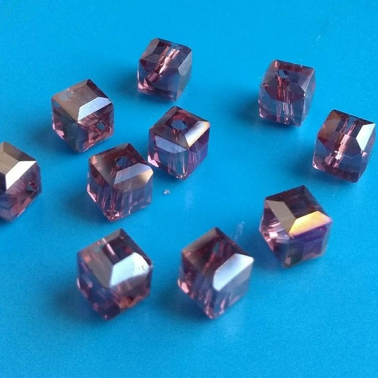 10 pcs lots of these 6mm purple crystal cube beads are now available in my #etsy shop. Please take a look. Thanks Fiona #crystalbeads #purplecrystal