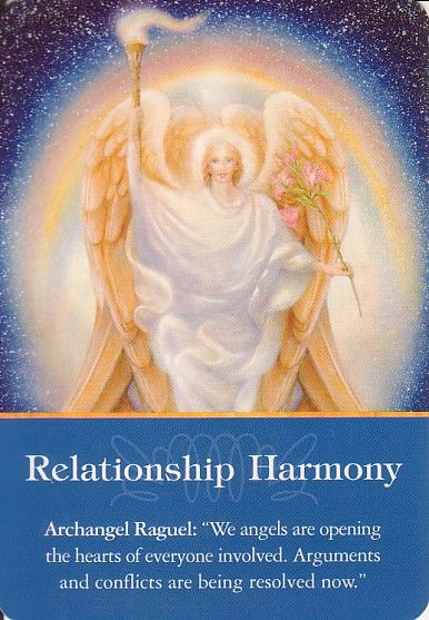 Got Angel?                                                       : Archangel Oracle Card for 2-6-15 Relationship Harm...