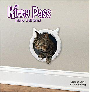 The Kitty Pass Wall entry cat door, Cat Door Tunnel, Cat Wall door Pet Door Hidden Litter Box.