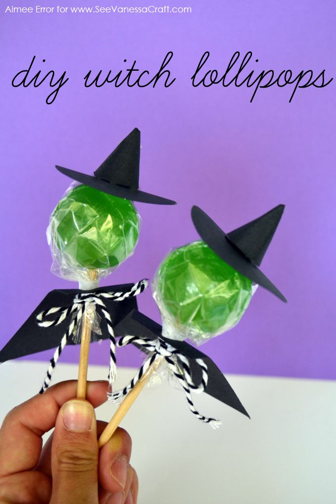witch lollipops for halloween parties