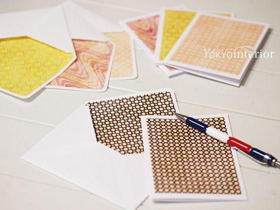 [無料ダウンロード] ビンテージ風!封筒&カードのテンプレート(洋長)<02>