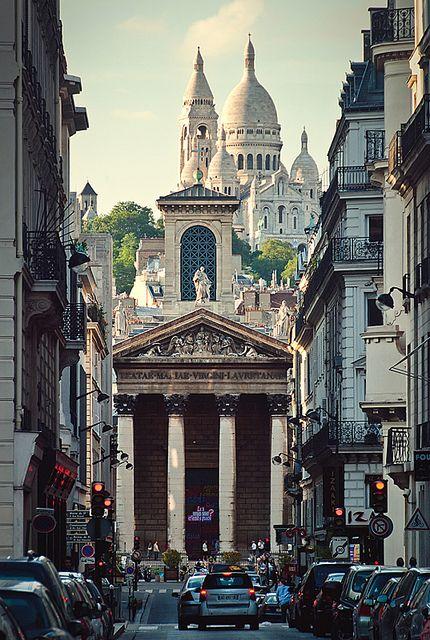 rue de la Chaussée d'Antin, Notre Dame de Lorette & Sacré Coeur at the background