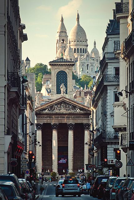 Sacre Coeur overlooking Montmartre - Paris, France